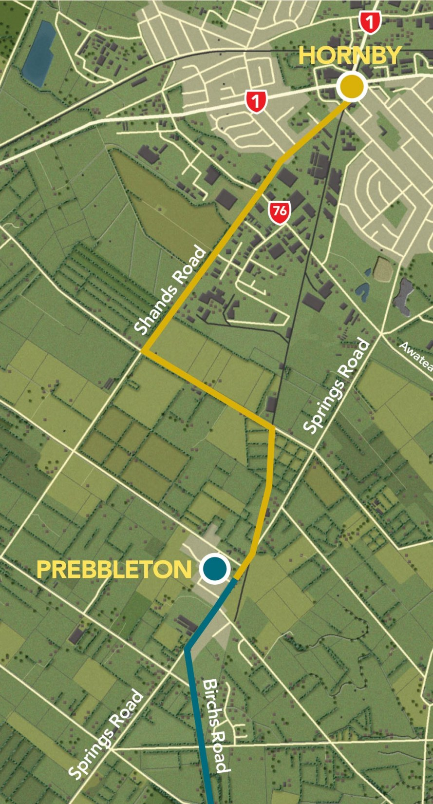 gallery/hornby to prebbleton map